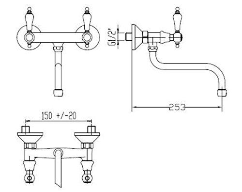 fromac-spultischarmatur-wandarmatur-etros-griff-weiss-lackiert-chrom-2170-08545001c-2170