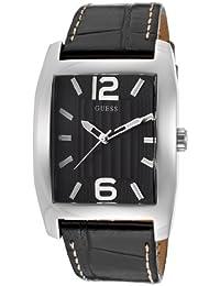 Guess Herren-Armbanduhr Analog Quarz Leder W70023G1
