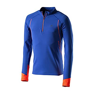 Pro Touch Renzo Herren Longsleeve Laufshirt Shirt Langer Arm Blue Royal Orange von Pro Touch bei Outdoor Shop