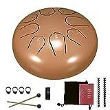 Verdelife Steel Tongue Drum, Tank Hang Drum, 6 Inch 8 Tune Hand Pan Drum met Drumsticks Draagtas