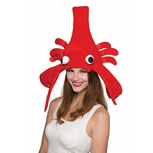 Halloween Kostüm Hummer - SYMTOP Erwachsene Hummer Hut Partyhüte Kopfbedeckung Zubehör rot lustig Cosplay Kostüm Weihnachten Halloween Party