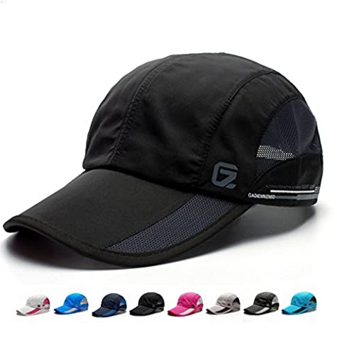 NYCOODNY Outdoor Riding Cap Quick Dry Sport Hat Lightweight Breathable Soft Camping Cap (Classic up Black)