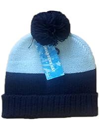 Pour enfants/filles bande thermique chapeaux avec Bobble 2 ombre imprime une seule taille, marine