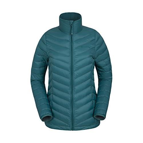 Mountain Warehouse Featherweight Down Womens Jacket – Water Resistant Ladies Rain Jacket, Thermal Winter Coat…