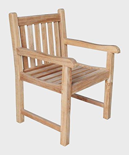 BEHO Natürlich gut in Holz ! 2 Gartensessel Pica 60x62x88 cm Teakholz selected Kernholz unbehandelt zusammengebaut