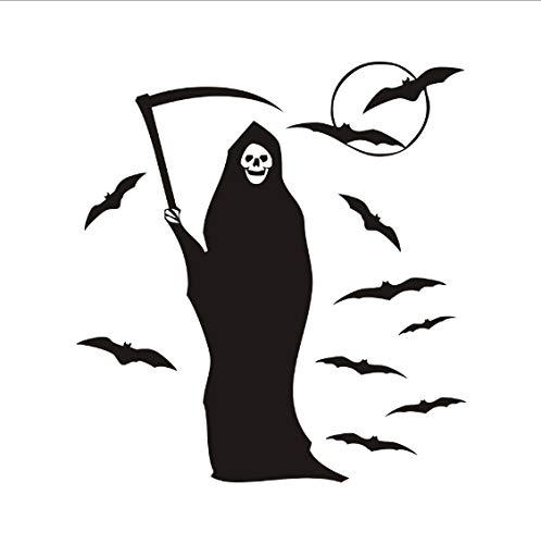 Halloween Fledermaus Hexe Abnehmbare DIY Wandaufkleber Für Kinderzimmer Kunst Wohnkultur Aufkleber Poster Hallowmas Dekoration Zubehör