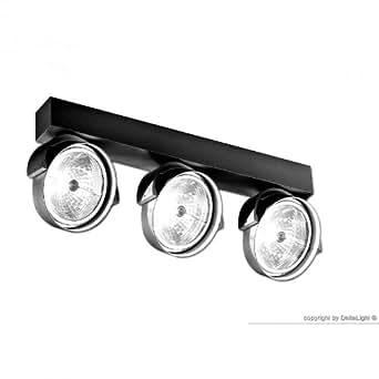 deltalight rand 311 t50 deckenstrahler schwarz. Black Bedroom Furniture Sets. Home Design Ideas