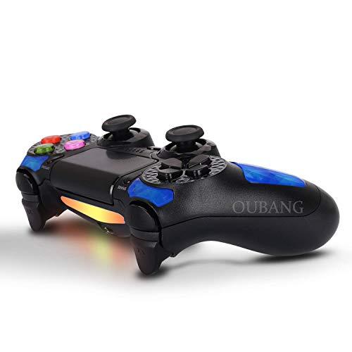 Playstation DualShock 4 Controller – OUBANG PS4 Controller kabellose Fernbedienung Micro USB Ladekabel Playstation 4/PS4 Pro/PS4 Slim/PC/PS TV (Royalblau)