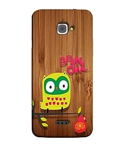PrintVisa Owl U Need is Love 3D Hard Polycarbonate Designer Back Case Cover for InFocus M350