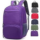 30L ligero Packable mochila, mrplum Unisex Durable resistente al agua práctico mochila para viajes y deportes al aire libre (Púrpura)