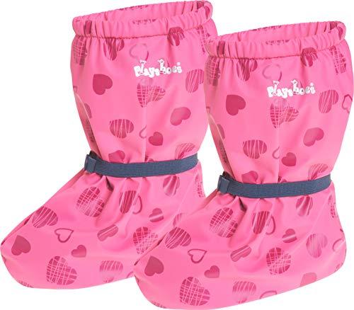 Playshoes Baby Mädchen Regenfüßlinge mit Fleece-Futter Herzchen Stiefel, Pink (Pink 18), S