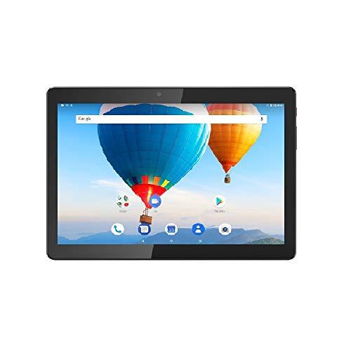 ibowin® Das Neue 10.1 Zoll Android 8.1 Oreo Quad core 1,5GHz 1280x800 IPS Display WiFi 3G Cellular Dual SIM 2GB RAM 16GB Speicher erweiterbar mit MicroSD Bluetooth GPS - Schwarz -