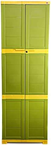 CelloNoveltyLarge Plastic Cupboard with Lock(Green and Yellow)