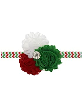 Zhhlaixing Kids Baby Girls Toddler Colorful Silk Flowers Headband Hairband Flower Hair Accessories for Christmas...