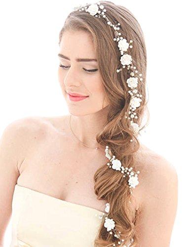 Hochzeit Haarband Lange Vine Silber Strass für Bräute und Brautjungfern-100,1cm ()