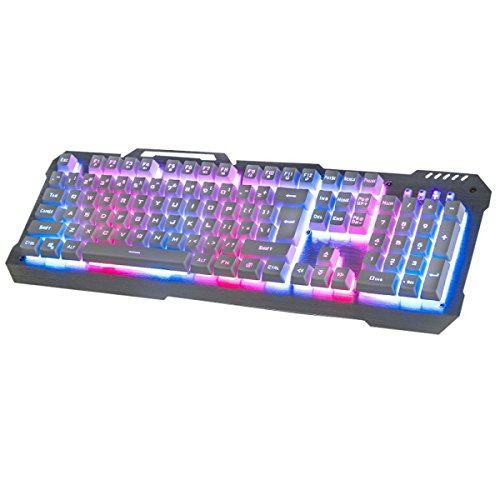 Snfgoij Backlit Flotante Teclado Mecánico Wired Glow Lol Juego Metal Teclado Teclado Inalámbrico Compacto,A