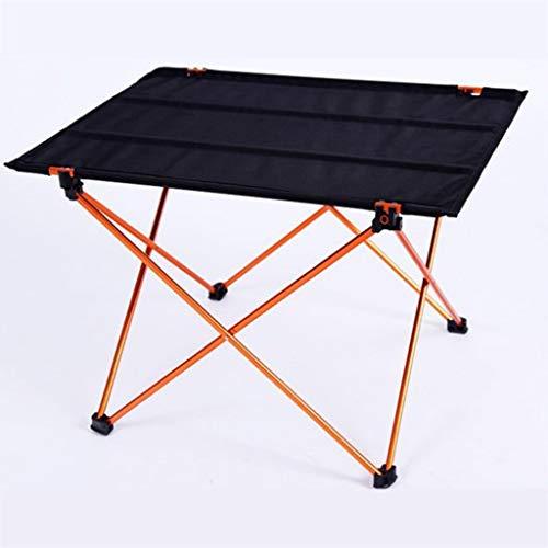 RLY Outdoor-Tisch, 6061 Al Light Anti-Rutsch-Klappschreibtisch Tragbare Faltbare Campingmöbel Computertische Picknick (Color : Gold, Size : M)