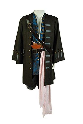 Pirates of the Caribbean 4: Jack Sparrow Cosplay Kostüm Herren L