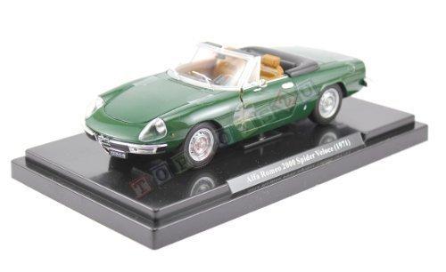 Alfa Romeo Spider 2000cabrio, modello MCO 1971, colore verde in scala 1:24