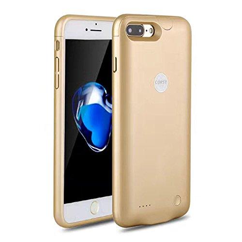 Iphone7Battery Case, CORST® Slim 2800mAh batteria di backup caso batteria esterna Power Bank per Iphone7 Blau oro