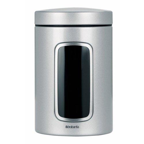 Brabantia Fensterdose 1,4 L rund/Metallic Grey