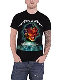 Metallica T Shirt Hardwired Album Cover Band Logo Official Mens Black