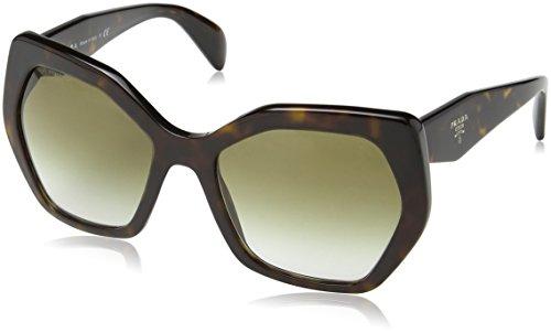 Prada Damen 0PR16RS 2AU4M0 56 Sonnenbrille, Braun (Havana/Brown/Green),
