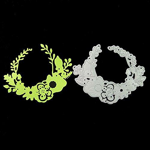 Qinpin Stanzschablone aus Metall, Prägeschablone für DIY Scrapbook Album Papier Karten Basteln Dekoration, Karbonstahl, D, Einheitsgröße