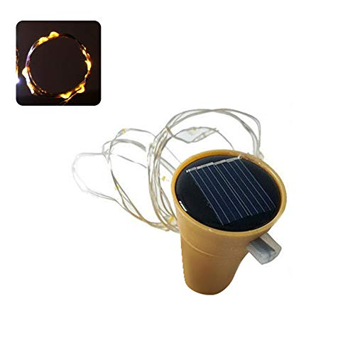 Glareshop 75cm Kork geformt 15 LED Night Fairy Seil Licht Weinflasche Lampe Party Decor Warm White