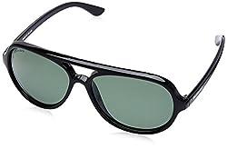 Fastrack Polarized Wayfarer Mens Sunglasses - (P358BK4P|57|Black Color)