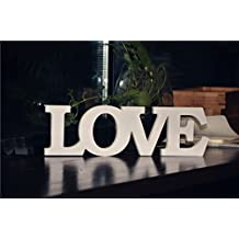 rainbow fox pvc material love sweetheart table decor madera letras palabras boda ceremo