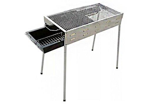 Barbecue, Barbecue au charbon de bois portable Camping Outdoor BBQ Utensil - 66.5X32X70cm