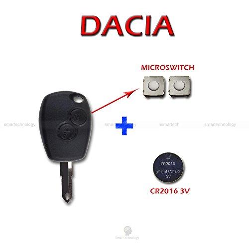 Schale + Messer + Batterie + Knöpfe für Fernbedienung Schlüssel 2Tasten Dacia Logan Duster Sandero Express