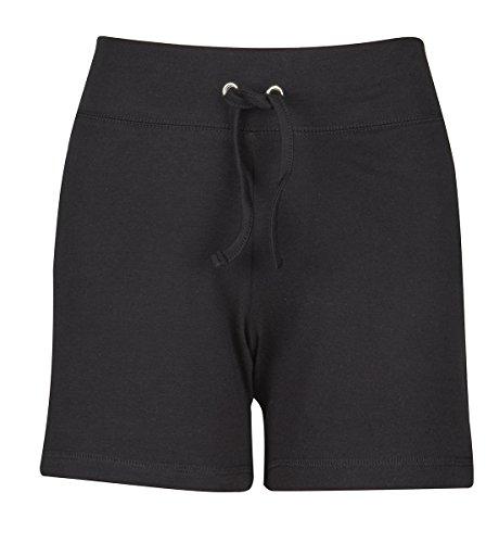 Label Your Love Damen-Shorts aus Baumwolle Gr. L, schwarz Valentines Day-hose