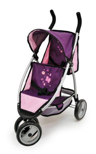 Bayer Design 39757 - Passeggino sportivo per bambole Twin-Jogger farfalla