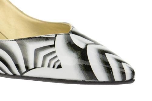 Peter Kaiser Peter Kaiser Sling Pumps - Diana 45 multi schwarz weiß - 40103/472, Scarpe col tacco donna Nero (nero)