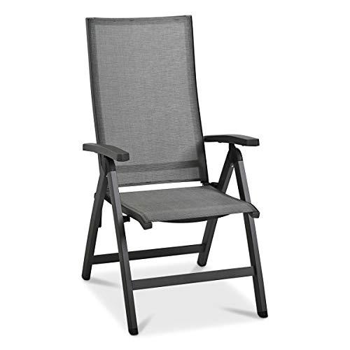 MONBEA Detroit Verstellsessel Stuhl Aus Aluminium In Anthrazit Hochwertiger Gartenstuhl Mit