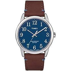 Timex Reloj Analógico para Hombre de Cuarzo con Correa en Cuero TW2R36000