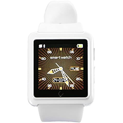uwatch U10L universale Bluetooth Smartwatch per IOS/Android Smart Watch Touch screen, Bianco