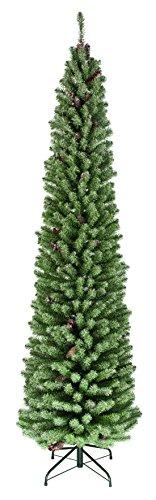 165cm Slim Frosted setola cono albero di Natale