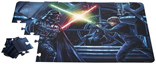 Brigamo 552503 – Star Wars Puzzle als Wandtattoo fürs Kinderzimmer, die Laserschwerter leuchten im Dunkeln! - 2