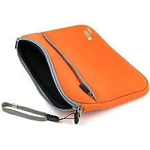 Custodia Per Lenovo YOGA Book | Tab 2 A10-30 | Yoga Tab 3 Pro 10 | TAB 2 A10-70 - Con Maniglia Di Trasporto + Tasca Esterna - Arancia - DURAGADGET