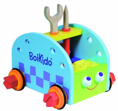 Boikido 80901003 - Konstruktions-Set Auto aus Holz mit 39 Zubehörteilen. ab 36 Monate