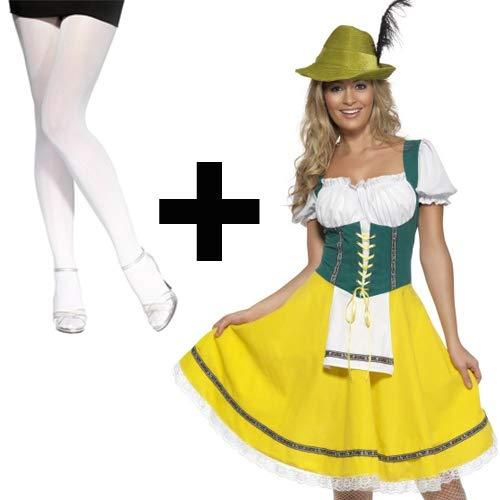 (Ladies' Oktoberfest + White Tights Medium)