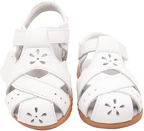 afd5e3c5fe7ac5 Gaatpot Enfant Sandales et Nu-Pieds en Cuir Bébé Chaussure Sandales Bout  Fermé Chaussure d