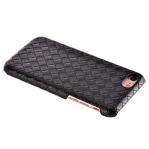 iPhone Case Cover Pour iPhone 7 texture étroite texture PU cuir surface protectrice cas arrière ( Color : Red ) Black