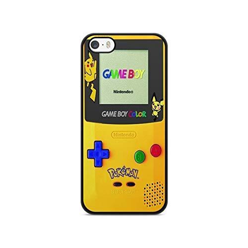 Coque Iphone 5c Pokemon go team pokedex Pikachu Manga Tortank Game boy color Salameche Noctali valor mystic instinct case Model 5