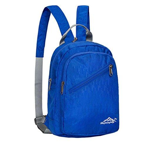 kingko® Mini sacs Nylon plein air sac à dos cartable sac à dos Sport Waterproof Tote bleu