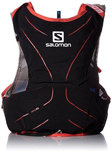 Salomon S-Lab Adv Skin 5Set Black/Rd - Rucksack, Unisex, Schwarz, 2XS