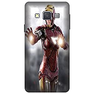Wizzart Samsung Galaxy On7 Pro (G600F) Back Cover Case In Print Designer Cases And Covers lady female iron woman Print Design